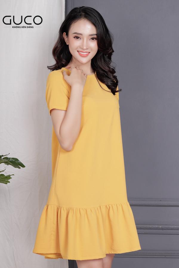 Đầm suông đuôi cá 1712 màu vàng