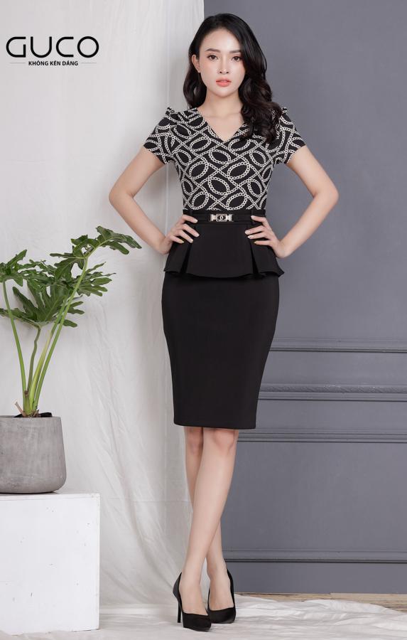 Đầm ôm body công sở 1724 màu đen