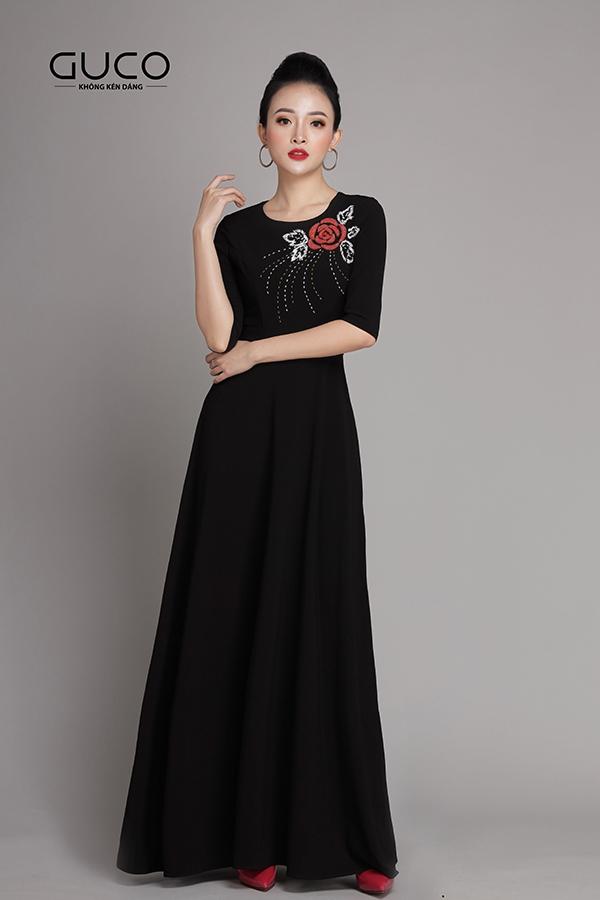 Đầm dạ hội cao cấp kết hoa 1938 màu đen