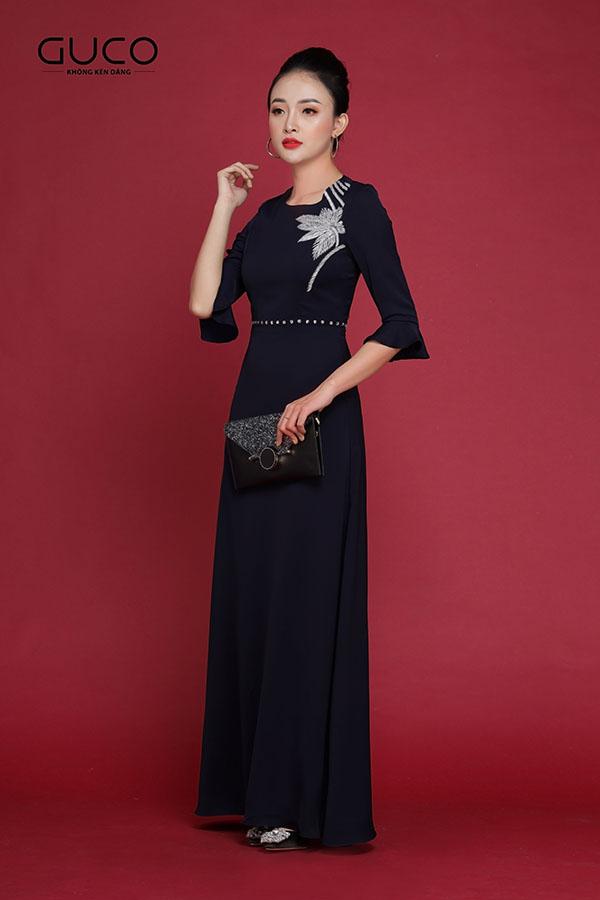 Đầm dạ hội kết cườm cao cấp 1977