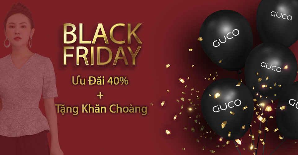 GUCO sale đến 40% dịp BLACK FRIDAY