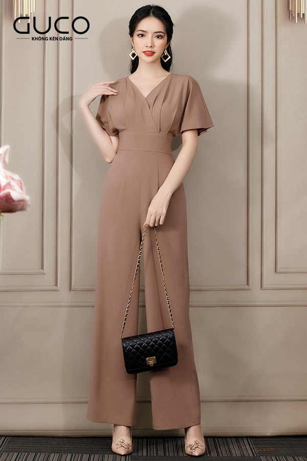 Jumpsuit ngực xếp ly 2958